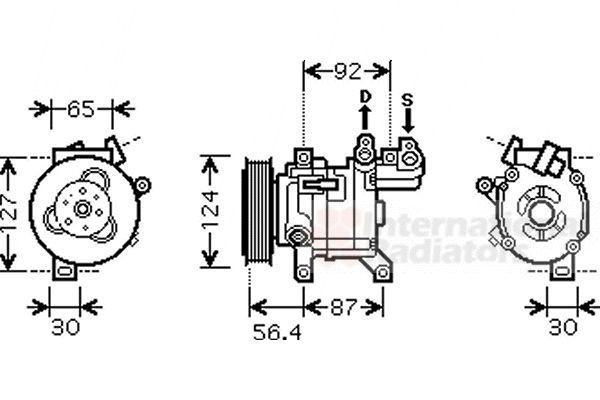 Compresseur, climatisation - VAN WEZEL - 4000K318