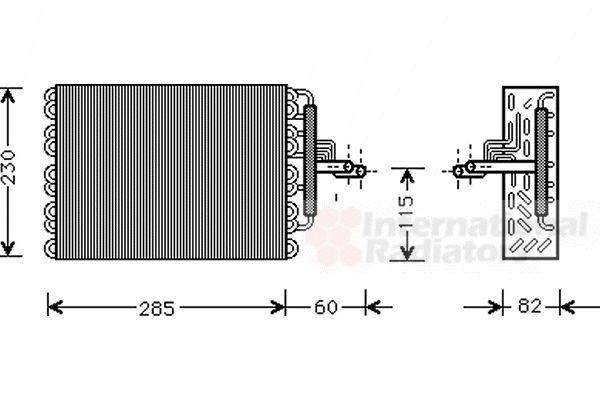 Evaporateur climatisation - VAN WEZEL - 4000V002
