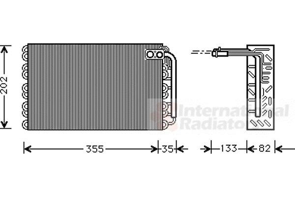 Evaporateur climatisation - VAN WEZEL - 4000V009