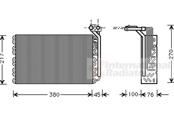 Evaporateur climatisation - VAN WEZEL - 4000V010