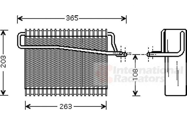 Evaporateur climatisation - VAN WEZEL - 4000V039