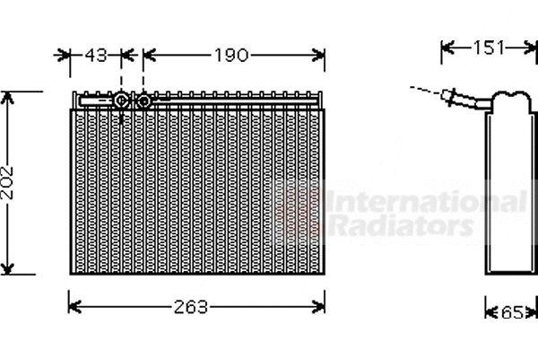 Evaporateur climatisation - VAN WEZEL - 4000V062
