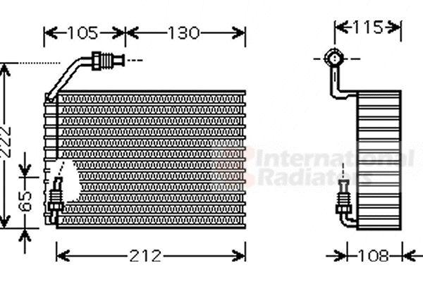 Evaporateur climatisation - VAN WEZEL - 4000V119