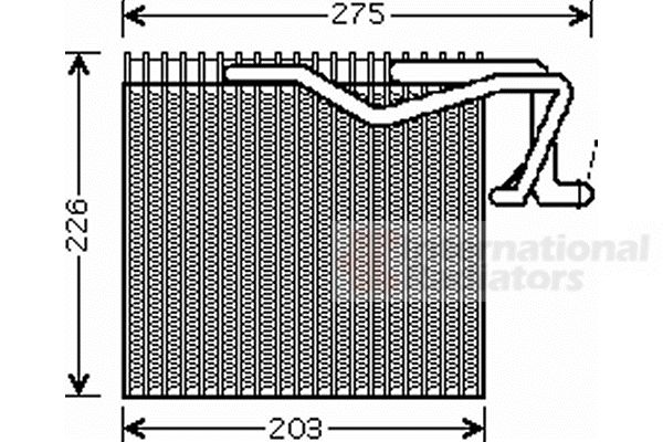 Evaporateur climatisation - VAN WEZEL - 4000V287