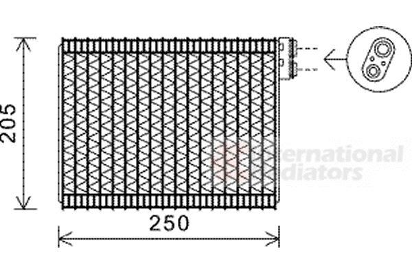 Evaporateur climatisation - VAN WEZEL - 4000V352