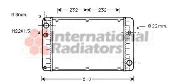 Radiateur, refroidissement du moteur - VAN WEZEL - 74002004