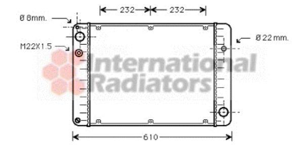 Radiateur, refroidissement du moteur - VWA - 88VWA74002006