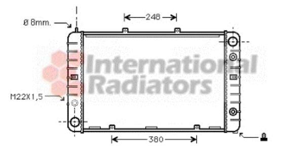Radiateur, refroidissement du moteur - VAN WEZEL - 74002009