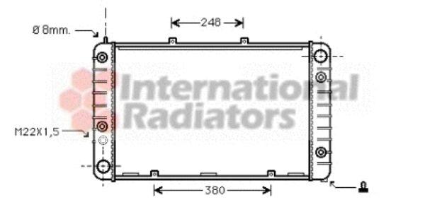 Radiateur, refroidissement du moteur - VAN WEZEL - 74002011