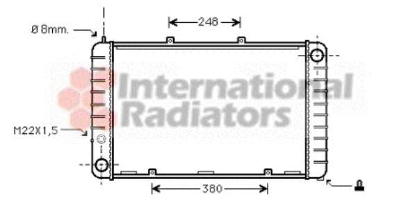 Radiateur, refroidissement du moteur - VAN WEZEL - 74002013