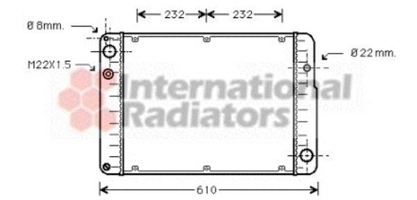 Radiateur, refroidissement du moteur - VAN WEZEL - 74002015