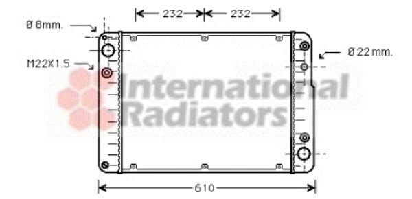 Radiateur, refroidissement du moteur - VAN WEZEL - 74002016