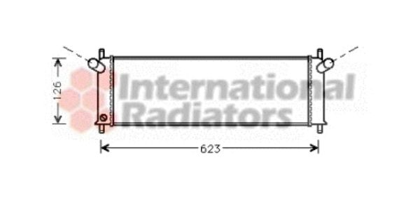 Radiateur, refroidissement du moteur - VWA - 88VWA74002022