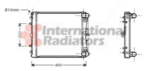 Radiateur, refroidissement du moteur - VAN WEZEL - 74002037