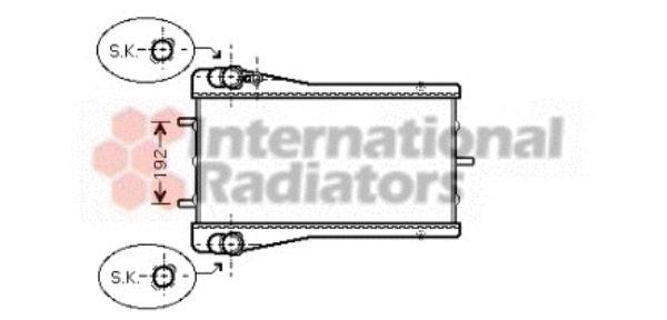 Radiateur, refroidissement du moteur - VAN WEZEL - 74002043