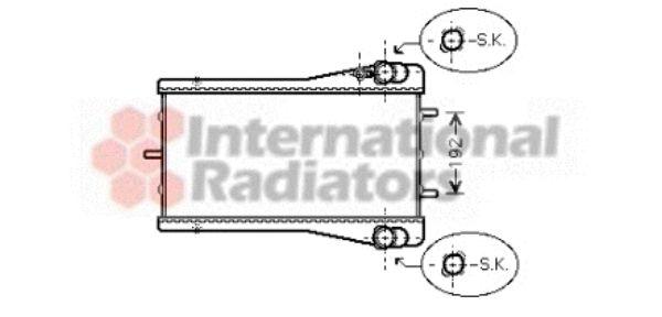 Radiateur, refroidissement du moteur - VAN WEZEL - 74002044