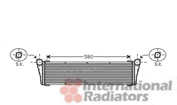 Radiateur, refroidissement du moteur - VAN WEZEL - 74002053