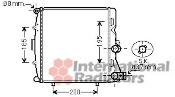 Radiateur, refroidissement du moteur - VAN WEZEL - 74002054