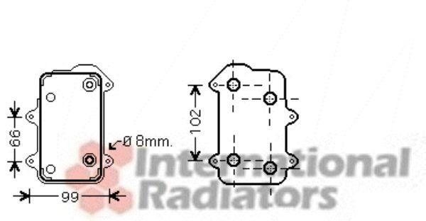 Radiateur d'huile - VAN WEZEL - 74003051