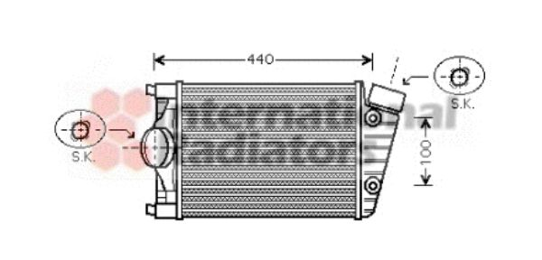 Intercooler, échangeur - VWA - 88VWA74004047