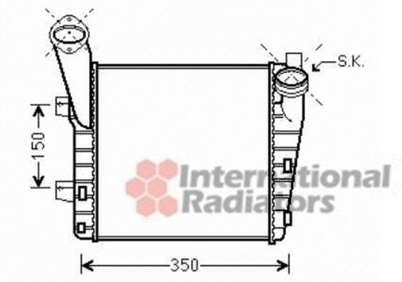 Intercooler, échangeur - VWA - 88VWA74004056