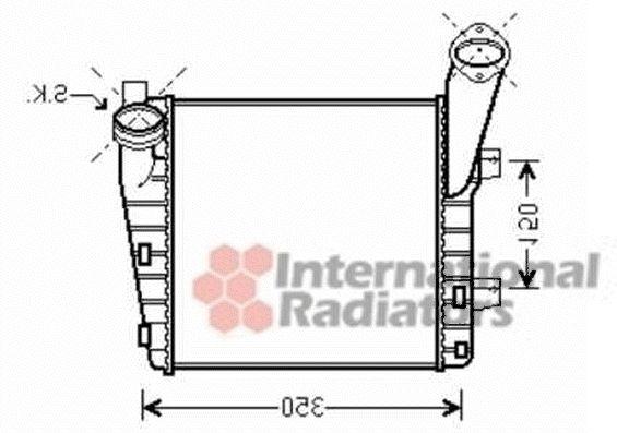 Intercooler, échangeur - VAN WEZEL - 74004057