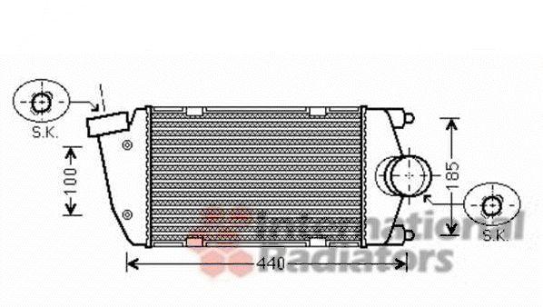 Intercooler, échangeur - VAN WEZEL - 74004058