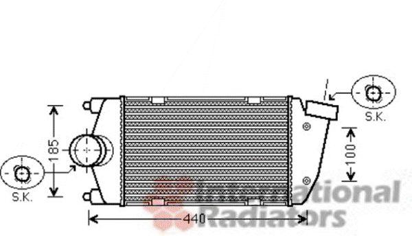 Intercooler, échangeur - VAN WEZEL - 74004061