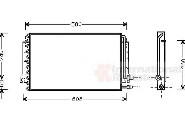 Condenseur, climatisation - VAN WEZEL - 74005024