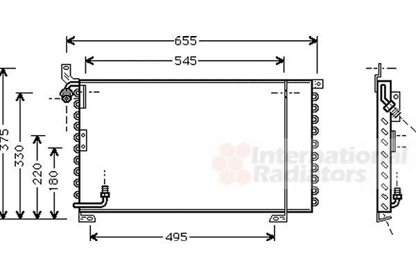 Condenseur, climatisation - VAN WEZEL - 74005025