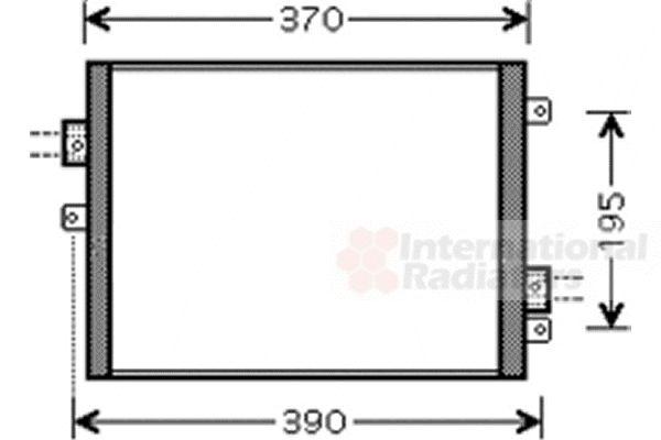Condenseur, climatisation - VAN WEZEL - 74005052