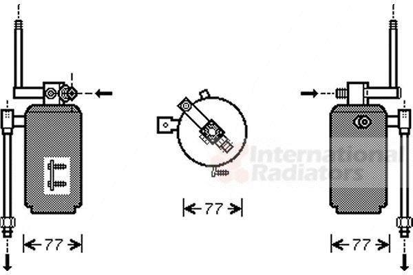 Filtre déshydratant, climatisation - VAN WEZEL - 7400D049