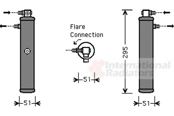 Filtre déshydratant, climatisation - VAN WEZEL - 7400D050