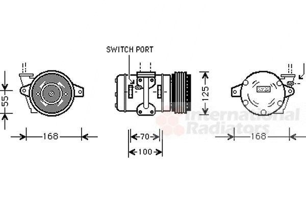 Compresseur, climatisation - VAN WEZEL - 7400K030