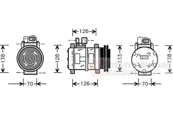 Compresseur, climatisation - VAN WEZEL - 7400K031