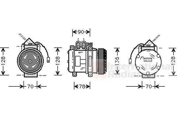 Compresseur, climatisation - VAN WEZEL - 7400K034