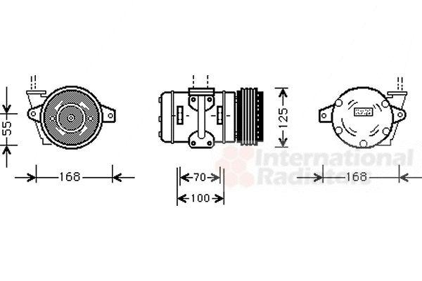 Compresseur, climatisation - VAN WEZEL - 7400K036