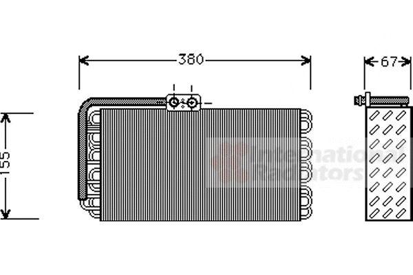 Evaporateur climatisation - VAN WEZEL - 7400V027