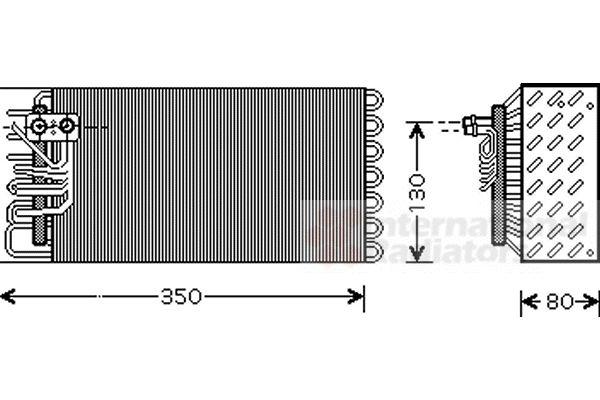 Evaporateur climatisation - VAN WEZEL - 7400V039