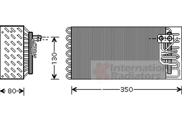 Evaporateur climatisation - VAN WEZEL - 7400V041