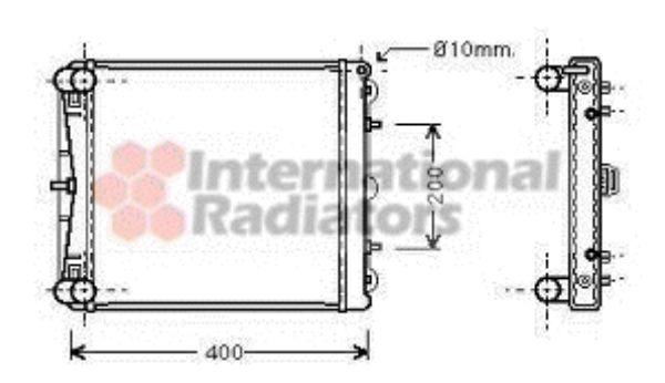 Radiateur, refroidissement du moteur - VAN WEZEL - 74002023