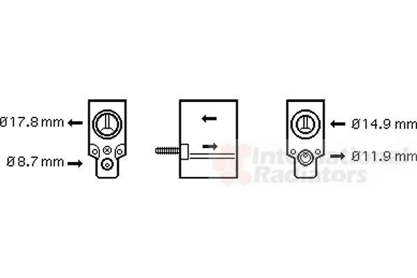 Détendeur, climatisation - VAN WEZEL - 43001333