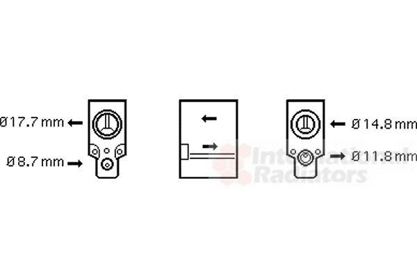 Détendeur, climatisation - VWA - 88VWA43001335