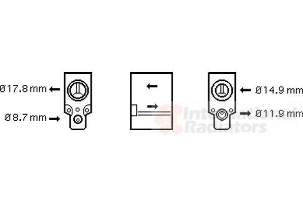 Détendeur, climatisation - VWA - 88VWA43001336