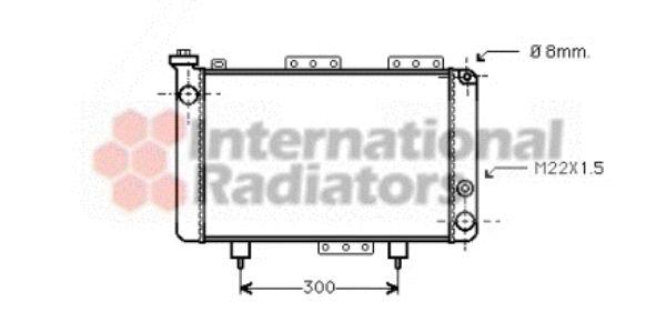 Radiateur, refroidissement du moteur - VAN WEZEL - 43002001