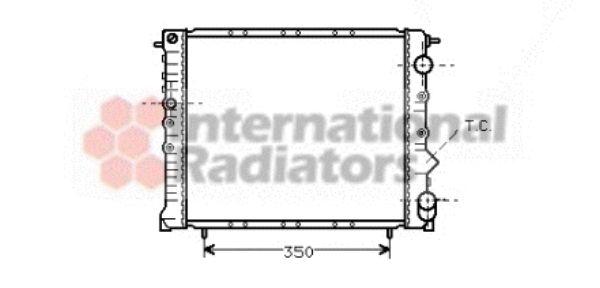 Radiateur, refroidissement du moteur - VAN WEZEL - 43002005