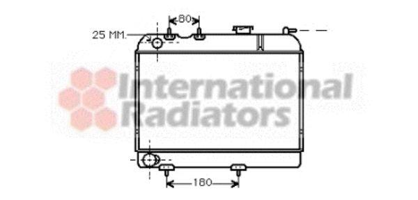 Radiateur, refroidissement du moteur - VAN WEZEL - 43002006