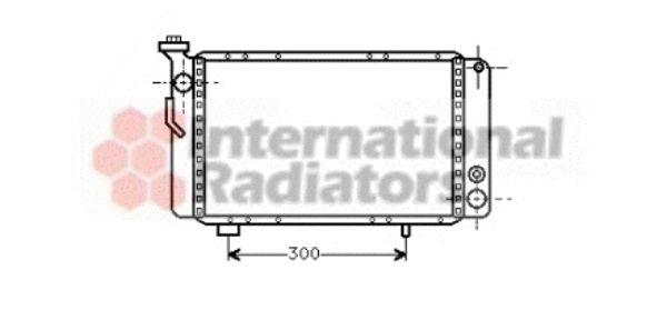 Radiateur, refroidissement du moteur - VAN WEZEL - 43002009