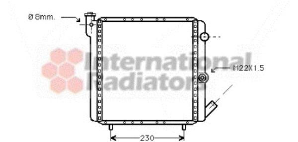 Radiateur, refroidissement du moteur - VAN WEZEL - 43002016