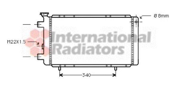 Radiateur, refroidissement du moteur - VAN WEZEL - 43002022